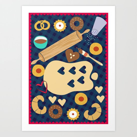 Love Bakery Art Print