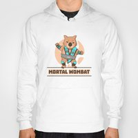 mortal instruments Hoodies featuring Mortal Wombat by Sombras Blancas Art & Design