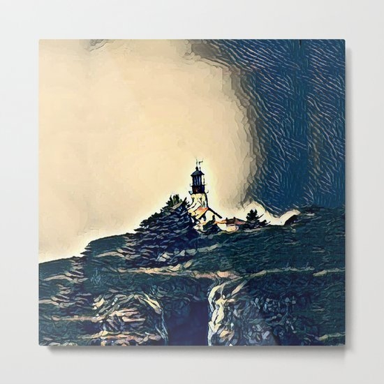 A Light In The Tempest Metal Print