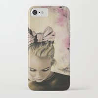 olivia joy iPhone & iPod Cases featuring Olivia by Claire Lee Art