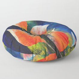 Liffy Abstract j49b Floor Pillow