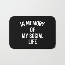 Memory Social Life Funny Quote Bath Mat