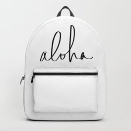 Aloha Hawaii Typography Backpack
