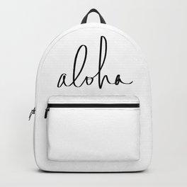 Aloha Hawaii Typography Backpack