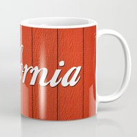 california Mugs featuring California  by Spyck
