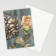 Butterfly on Rose Stationery Cards