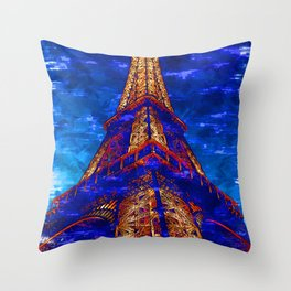 Eiffel Tower Light Glow By Sunset. For Eiffel Tower & Paris Lovers. Throw Pillow