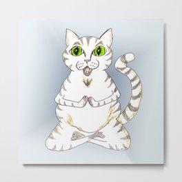 Ohm Kitty Metal Print