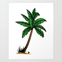 palm tree Art Prints featuring palm tree by Li-Bro