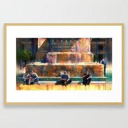 Four Men Framed Art Print