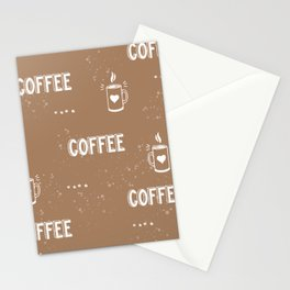 Coffee latte - Brown  Stationery Cards