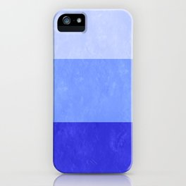 Blue Grunge Stripes iPhone Case