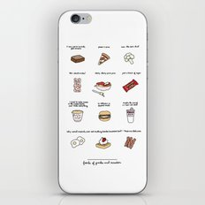 Foods of Parks and Rec iPhone & iPod Skin