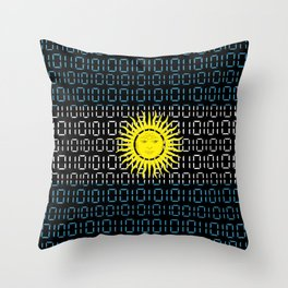 digital Flag (Argentina) Throw Pillow