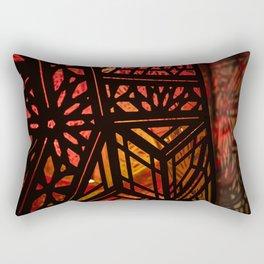 Abstract Red Light Exhibit Rectangular Pillow