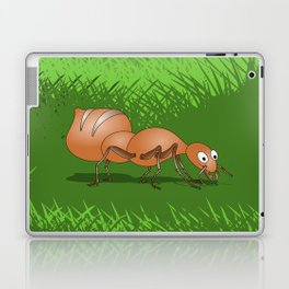 Ant smiling in tall green grass Laptop & iPad Skin