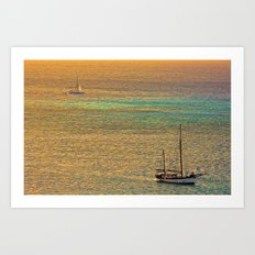 Sailing From the Sunset Art Print