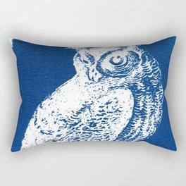 Owl II Cyanotype Rectangular Pillow