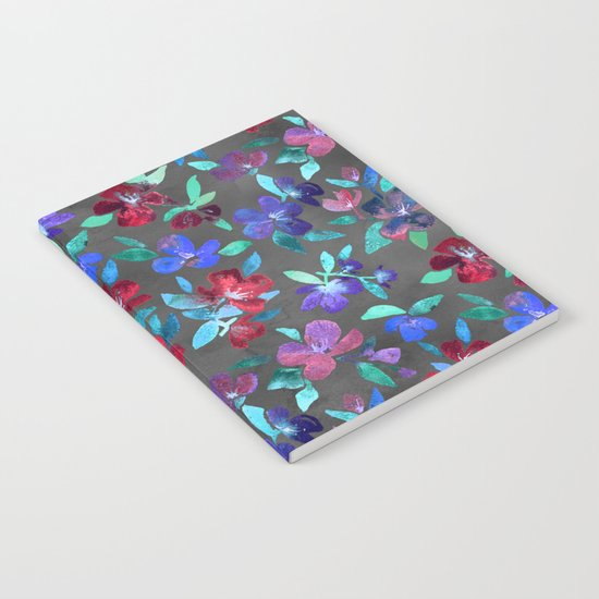 Blossoms in Cherry, Plum and Purple Notebook