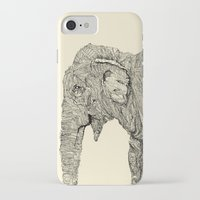 elephant iPhone & iPod Cases featuring Elephant by Struan Teague