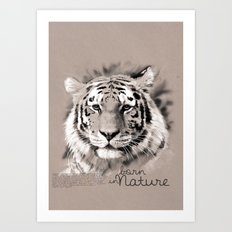 Tiger (BornInNature) Art Print