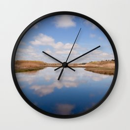 Reflections On The Great Marsh Wall Clock