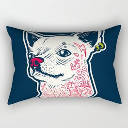 Funny Hipster Style Good Boy Dog Lover Tattoo Covered Chihuahua Rectangular Pillow