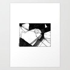 asc 488 - Les mains chaudes (Until his hands burn) Art Print