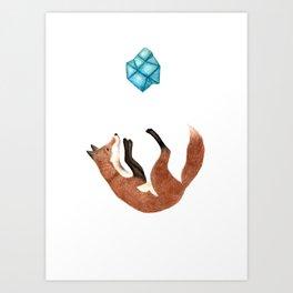 Blue Fox Art Print