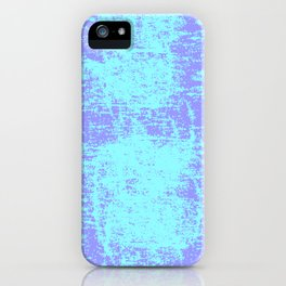 Neon Blue and Lavender Rough Splatter Paint Textured Pattern, Unisex Home Goods iPhone Case