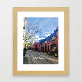 STOP For Brooklyn Heights Brownstone Red Brick Love Framed Art Print