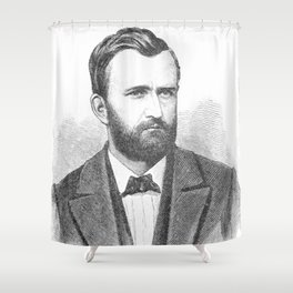 Ulysses S. Grant Illustrative Portrait Shower Curtain