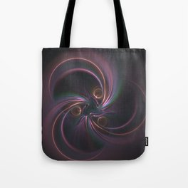 Moons Fractal in Warm Tones Tote Bag