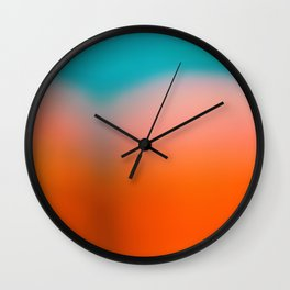 Red Water Wall Clock