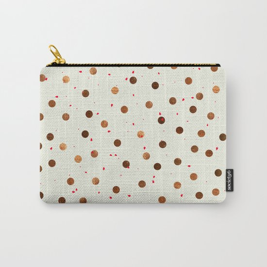 Copper Polka Dots With Red Hint Pattern Carry-All Pouch
