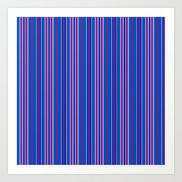 Purple Pop Stripes 1 Art Print
