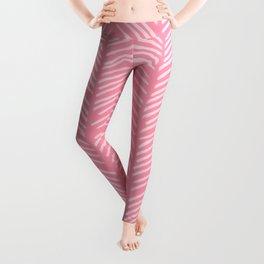 Light Pink Herringbone Leggings