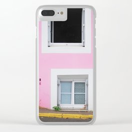 50. The Pink Wall, Bretagne, France Clear iPhone Case