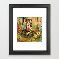 Tortoise Ride Framed Art Print