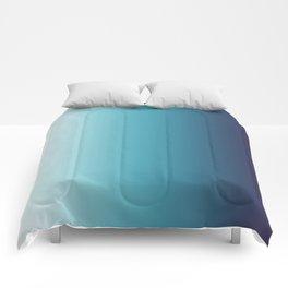 Blue White Gradient Comforters