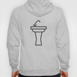 Faucet and sink bathroom elements in Design Fashion Modern Style Illustration Hoody