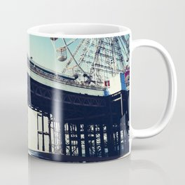 Ferris wheel and pier with light leak Coffee Mug