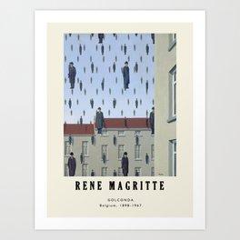 Poster-Rene Magritte-Golconda. Art Print