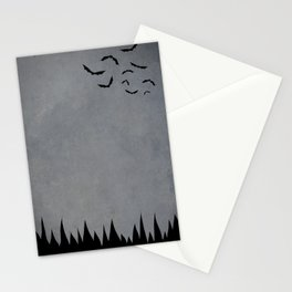 """Bats"" Halloween Poster Stationery Cards"