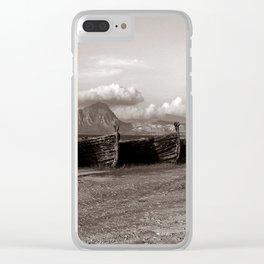 Old Port of Tonnara di Bonagia in Sicily Clear iPhone Case