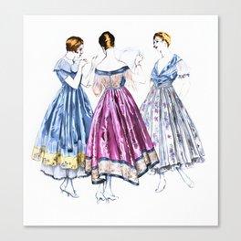 Vintage Dresses Canvas Print