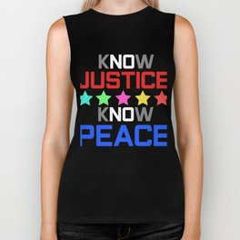 Spread the Love with this Peace of mind Tshirt Design Know peace Biker Tank