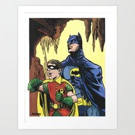 A Tribute to  Adam West & Burt Ward by Peter Melonas Art Print