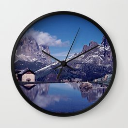 ESCAPE #2 #BLUE #Original - Peace in the Mountains Wall Clock