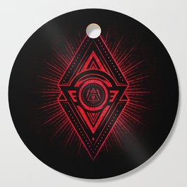 The Eye of Providence is watching you! (Diabolic red Freemason / Illuminati symbolic) Cutting Board
